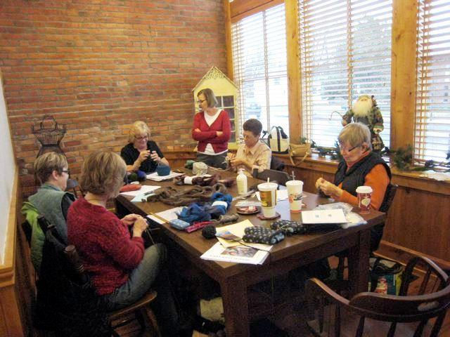 Novice knitters can take classes to improve their craft.