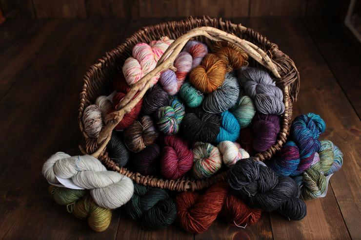Customers can buy exotic yarns.