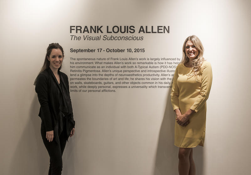 Jennifer Ford Art Gallery director, Bridget O'Reilly (on left) with Ford at the Frank Louis Allen Exhibit opening.