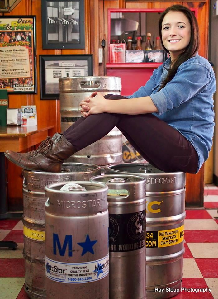 Abigail Kopen, keeping on top of things as buyer, manager and craft beer expert at Deer Park Irish Pub.
