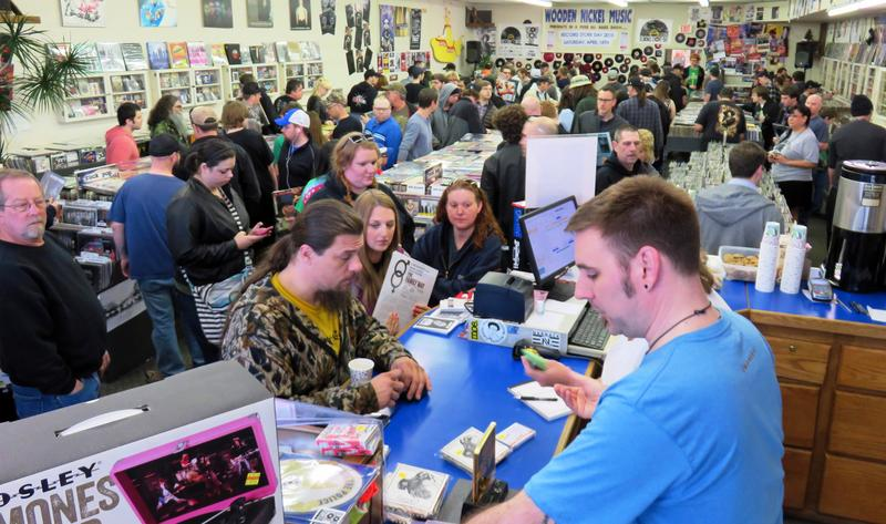 Last year's full-store Record Day Experience at Wooden Nickel Music on North Anthony.