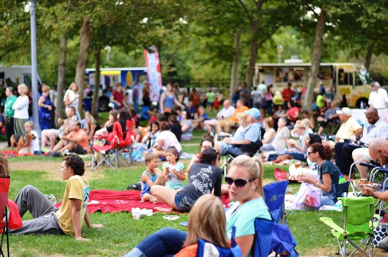 Local food trucks in attendance feed hungry concert goers
