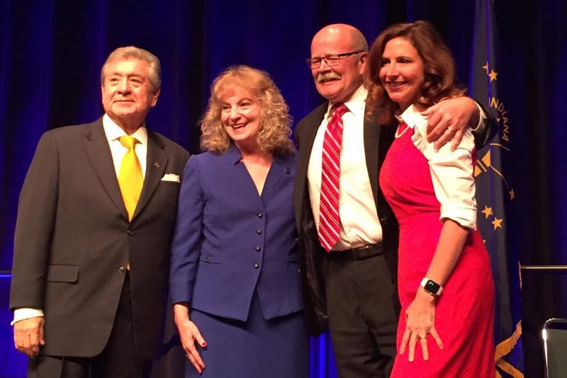 From left, Lorenzo Arredondo, Glenda Ritz, John Gregg and Christina Hale.