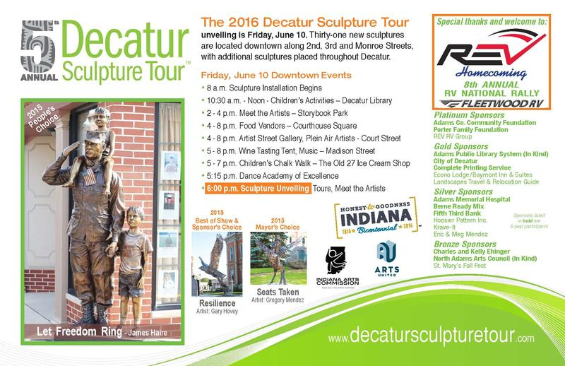 Details of 2016 Decatur Sculpture Tour