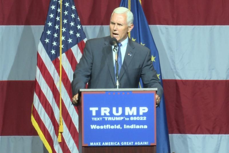 Pence pledged support to Trump in front of a crowd of more than a thousand at a mid-July rally in Indiana.