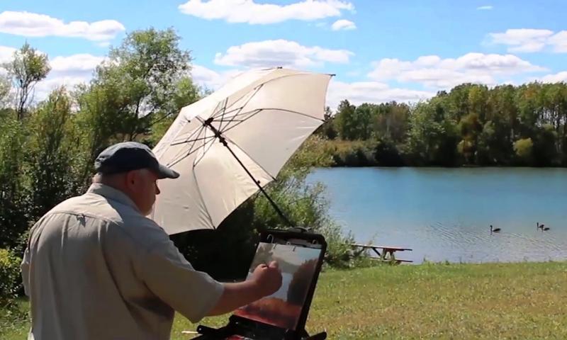 Rick enjoying a summer plein air painting session