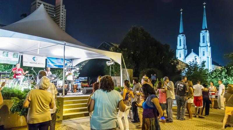 Botanical Roots concert-goers gathering for one of last year's Friday evening events.