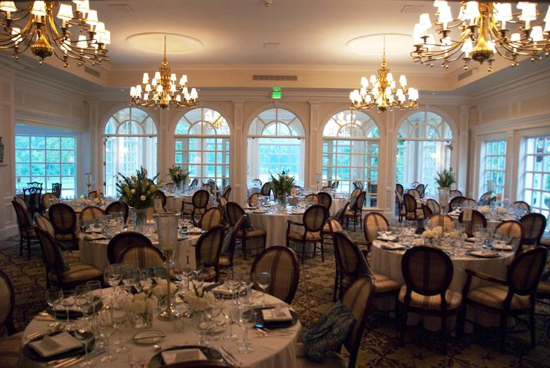 Sycamore Hills Golf Club dining room all set for the Blessings in a Backpack Celebrity Chef Fundraiser