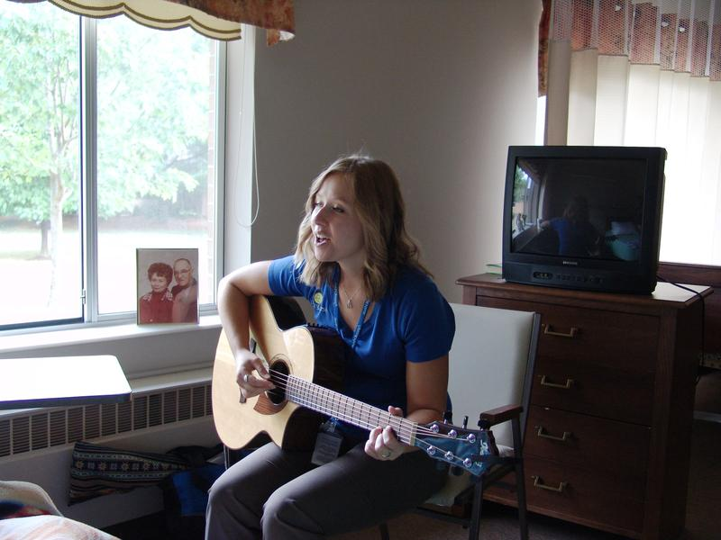 Emily considers it an honor to share her music therapy with patients in need of end-of-life care.