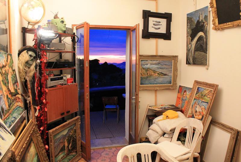 Johnson's studio/living space in Seborga, Italy