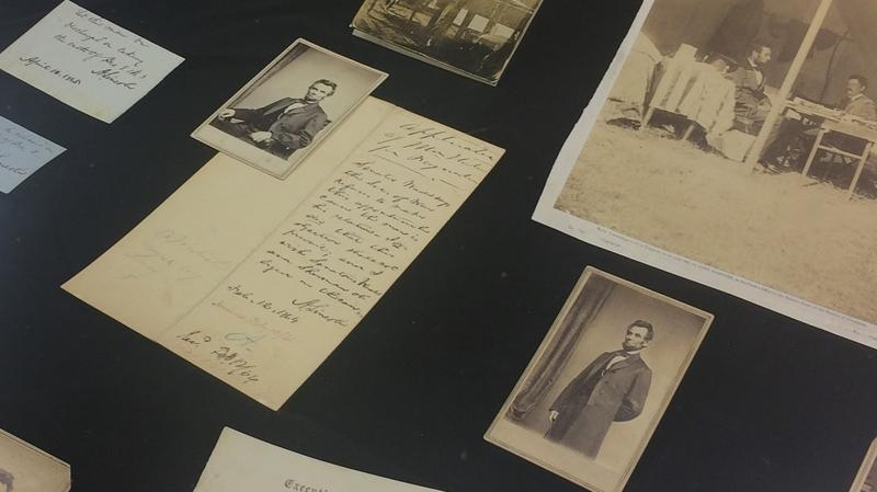 Pictures of Abraham Lincoln and letters to and from Lincoln are part of the Lincoln Financial Foundation Collection.