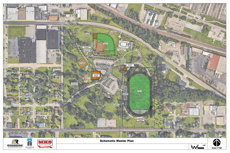 A digital rendering of the athletic complex