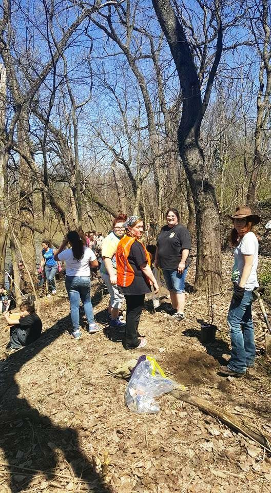 Working along the Maumee River in previous Earth Day events