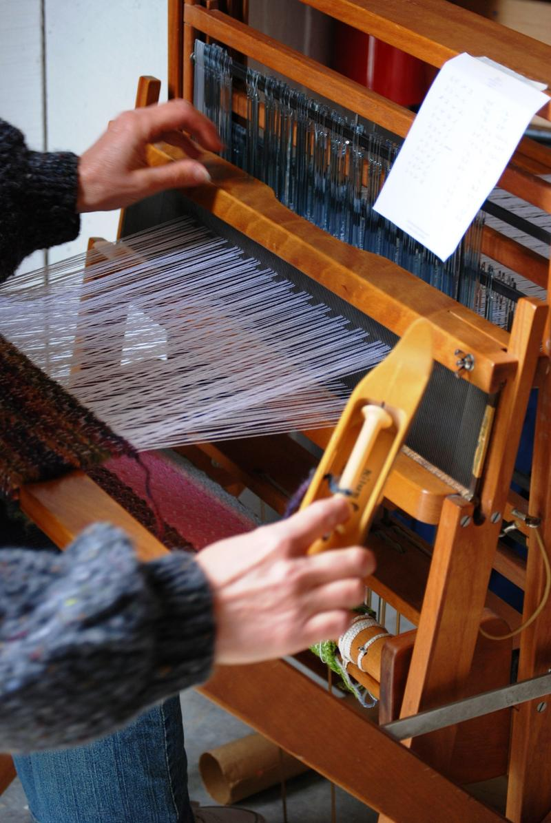 One type of weaving, close up and personal.