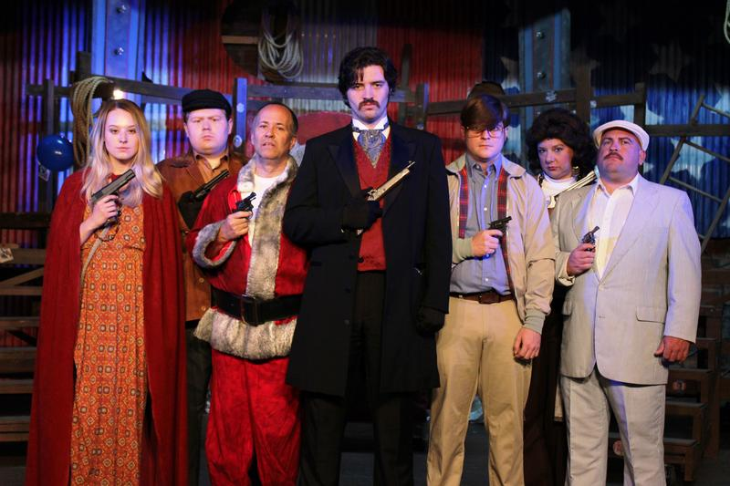 A rogues gallery of America's successful, and would-be presidential assassins gather on the Arena Dinner Theatre stage.