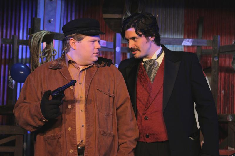 "Leon Czolgosz and John Wilkes Booth, getting acquainted in ""Assassins"""