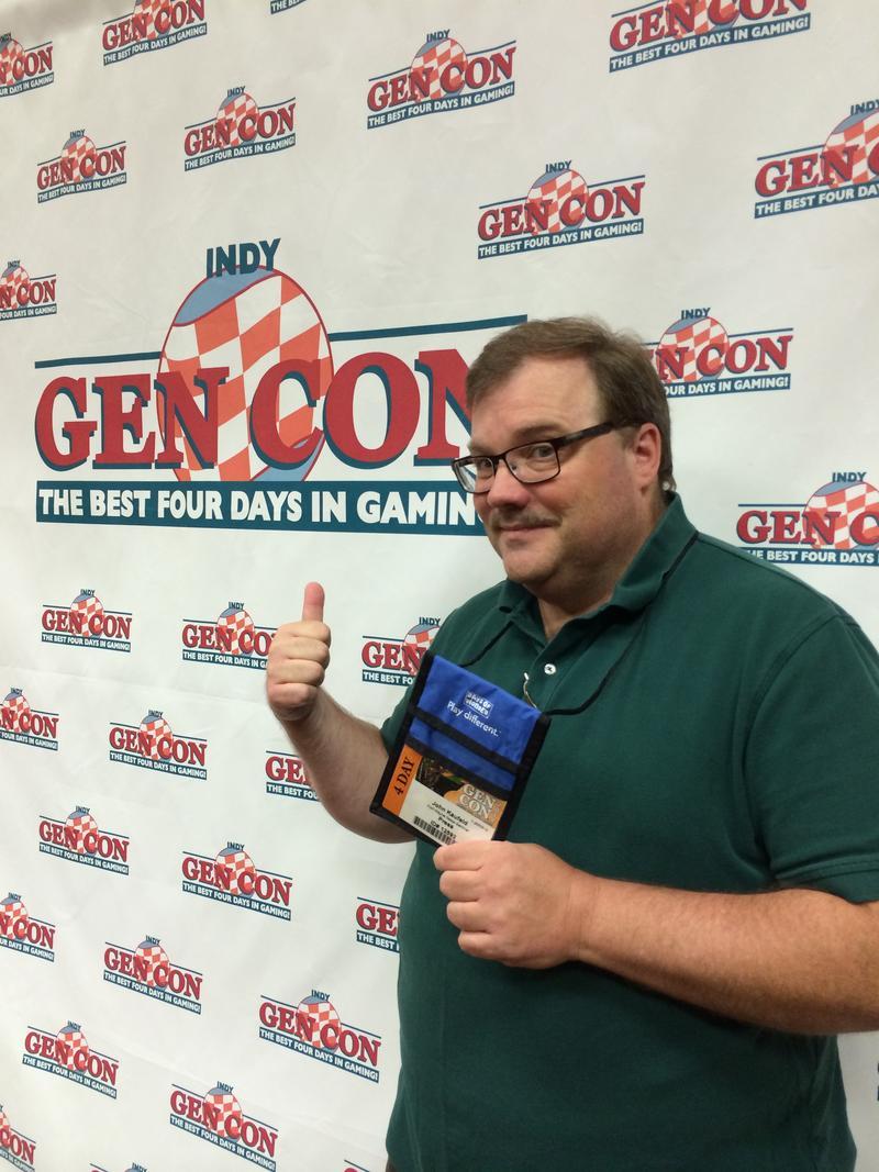John enjoying a day at Gen Con