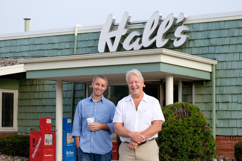 2nd and 3rd generation Hall's Restaurant family members, Ben Hall and his uncle Jeff, are eager to see the curb service activity once again flourish at their original drive in location