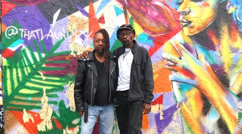 Big Apple Jazz Series creators, Ketu Oladuwa and Michael Patterson, outside Wunderkammer Company, which they feel is the perfect home for their new music experience.