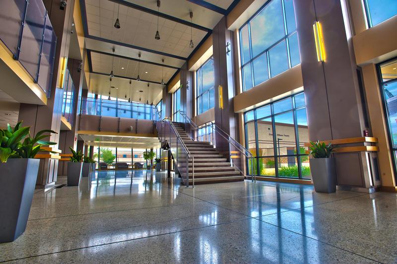 Lobby of IPFW's Rhinehart Music Center