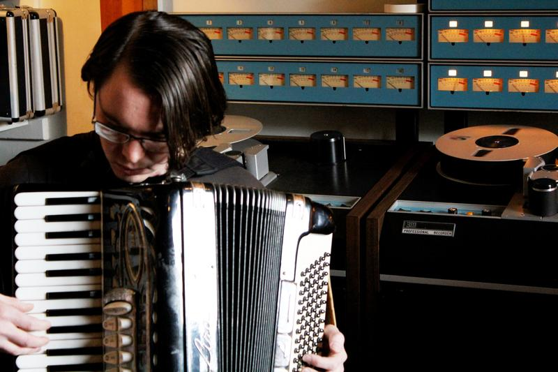 Bart Helms, in action at one of the many recording sessions he attended.