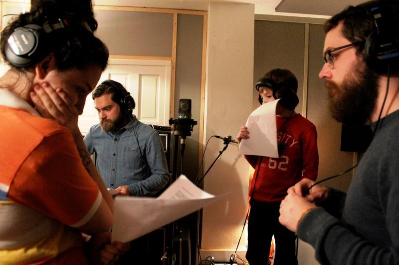Teamwork in the recording studio