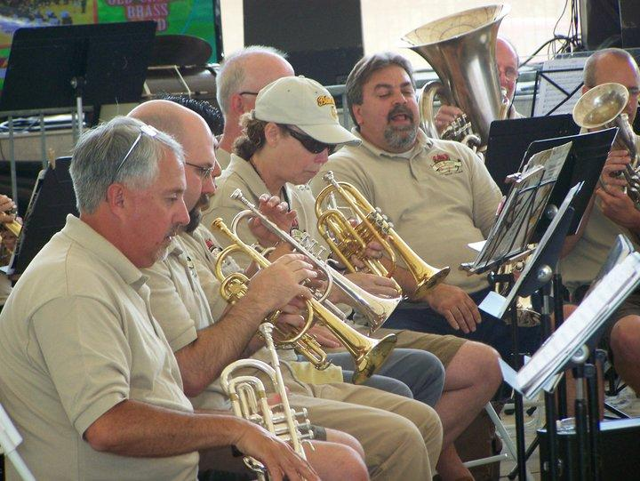The band in summer concert mode.