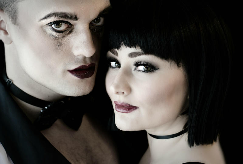 Billy Dawson as Cabaret Emcee and Jessica Butler in the role of British entertainer, Sally Bowles