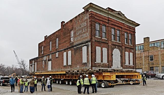 The Hall's family will have the historic Cambray building on its foundation by May, and hope to have it open for business once the Riverfront Park is completed, possibly by the summer of 2019.