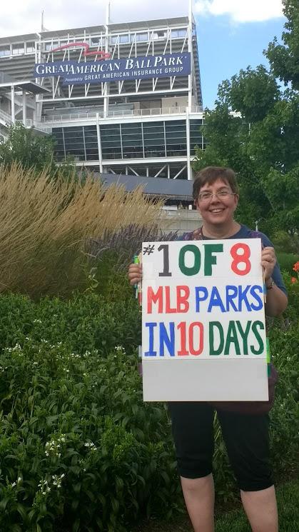 Eva Vandeputte at Great American Ballpark in Cincinnati, OH