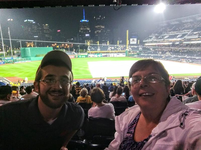 Frank and Eva Vandeputte at PNC Park in Pittsburgh, PA