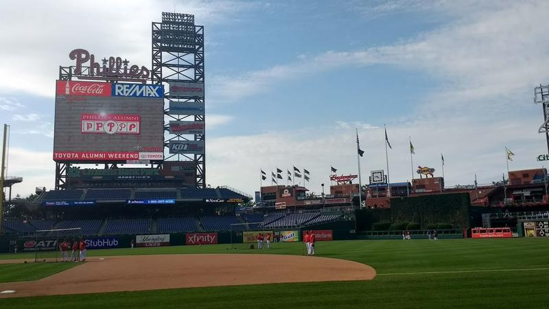 Getting in before the game at Citizens Bank Park in Philadelphia, PA