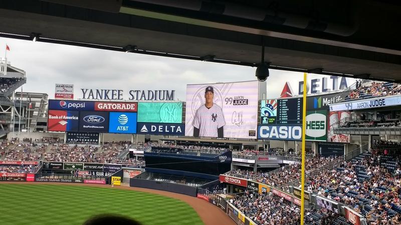 Aaron Judge is introduced at Yankee Stadium in Bronx, NY