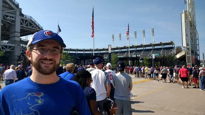 Frank Vandeputte at Progressive Field in Cleveland, OH