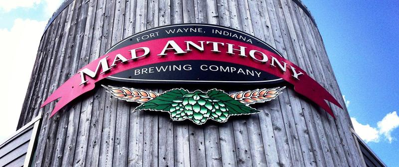 That iconic branding at the original Mad Anthony Brewing Company location.