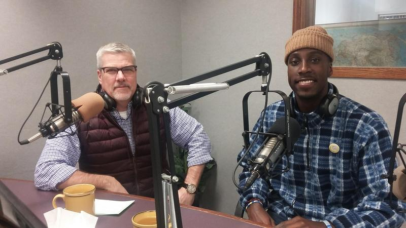 Mark Hagar (left) and DeVonta Beckham dropped by WBOI to talk about TEDxFortWayne