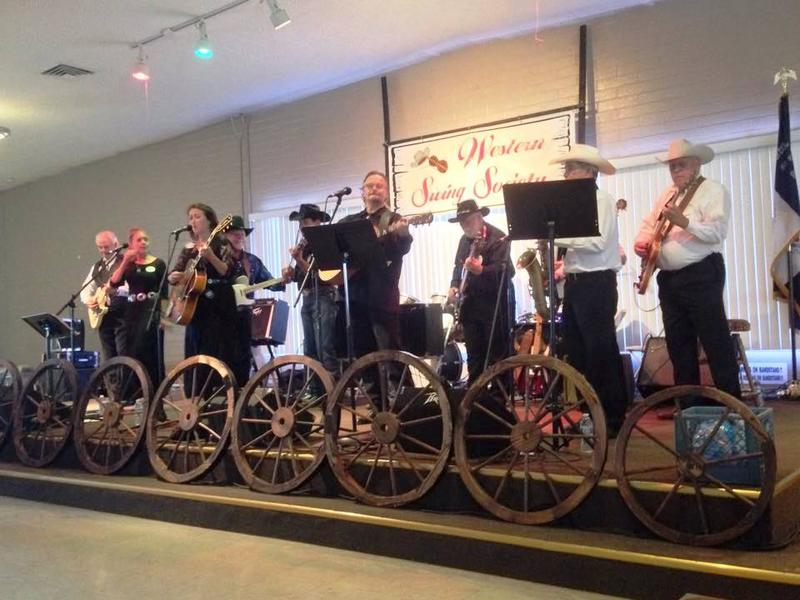 In concert with the Western Swing Hall of Fame Inductee Band