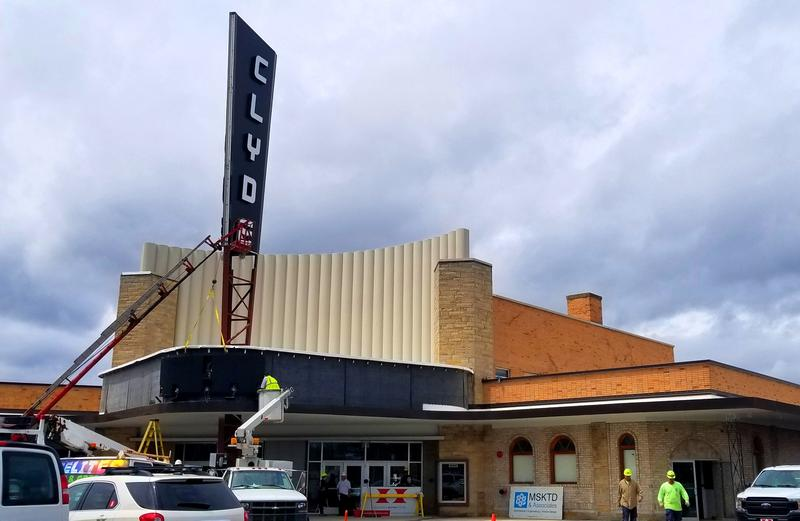 From the restored sign and refurbished parking lot to a grand new interior, the Clyde Theatre is ready for business.