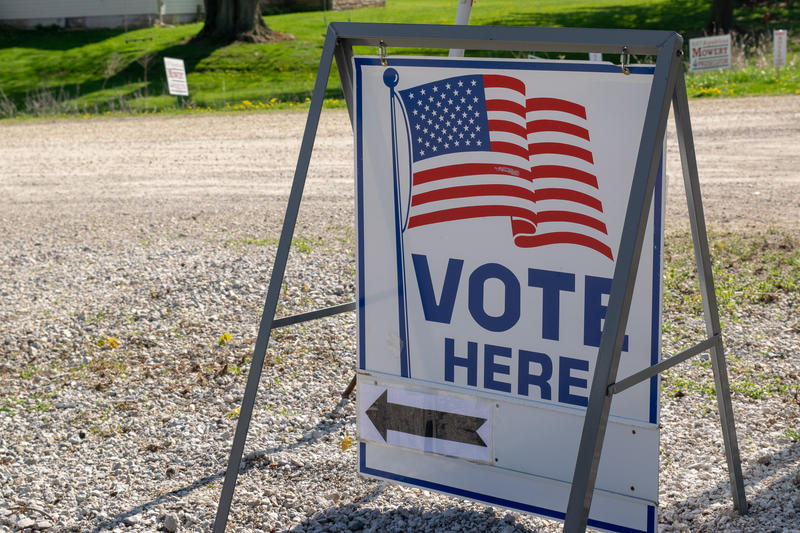 Voters cast their ballots Tuesday at polling places around northeast Indiana, including the Merriam Christian Chapel in Noble County.
