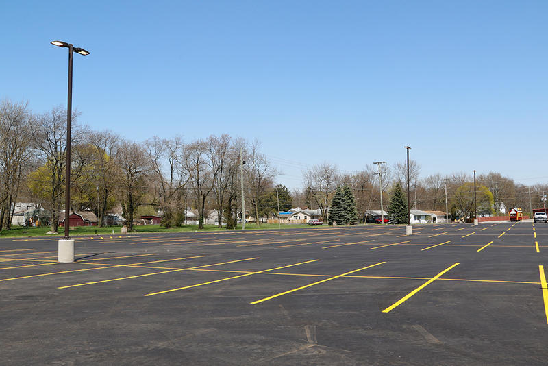 Six and a half acres of new parking lot, and energy efficient LED lighting