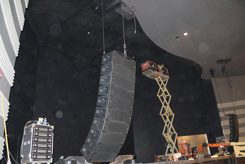 Part of the major new sound system being installed
