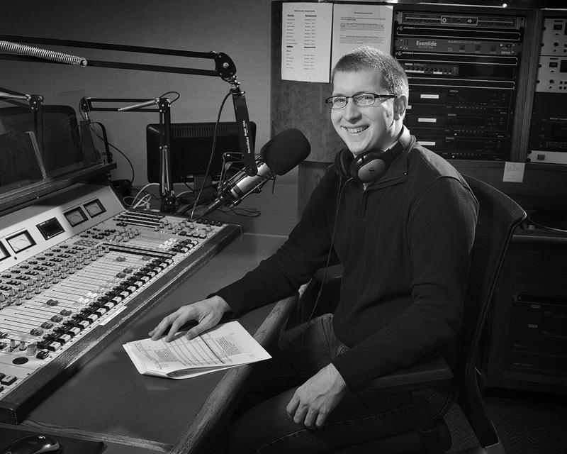 Ben Clemmer in the WBOI studio