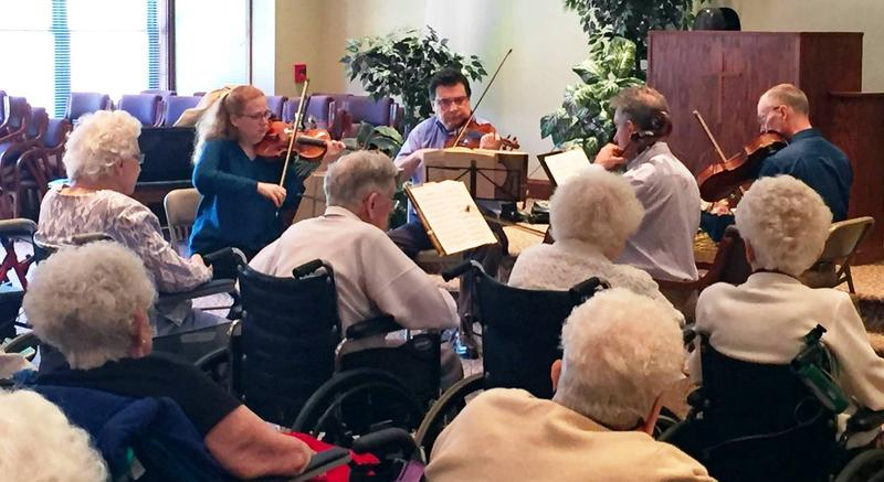 Audiences Unlimited brings arts and musical entertainment into more than 250 nursing homes and long-term care facilities every month.