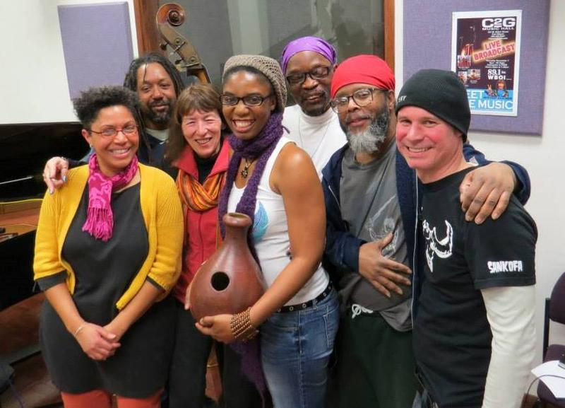 With musicians and writers in WBOI's Meet the Music studio for a spoken word session.