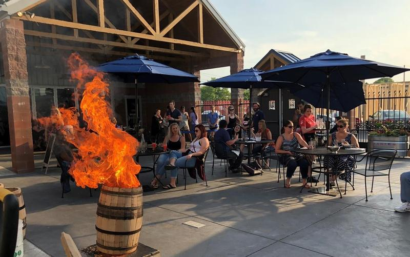 A seat on the patio at Three Rivers Distilling Company offers a fine setting and great spirits.