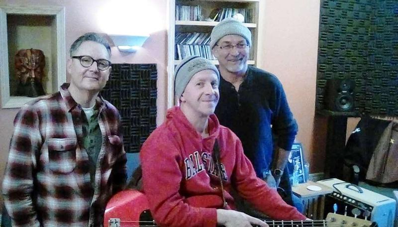 The band, in studio.