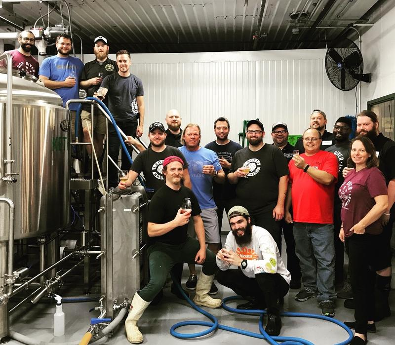 Collaboration Brew Day, in the Hop River Brewing Company Brewhouse