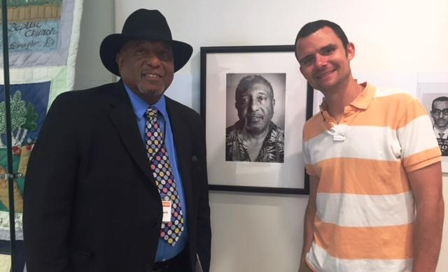 B.J. Hollars with Bernard Lafayette, Jr., one of the eight original Freedom Riders he met with on his journey to trace their steps, and bring their stories to life.
