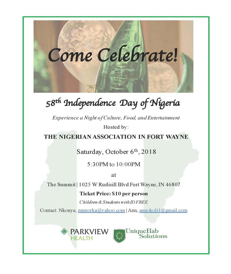 Nigerian Independence Celebration, 2018