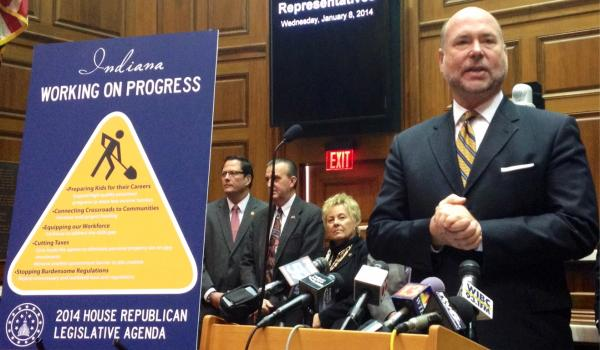 Indiana House Speaker Brian Bosma unveiled the 2014 House GOP agenda Wednesday at the statehouse.